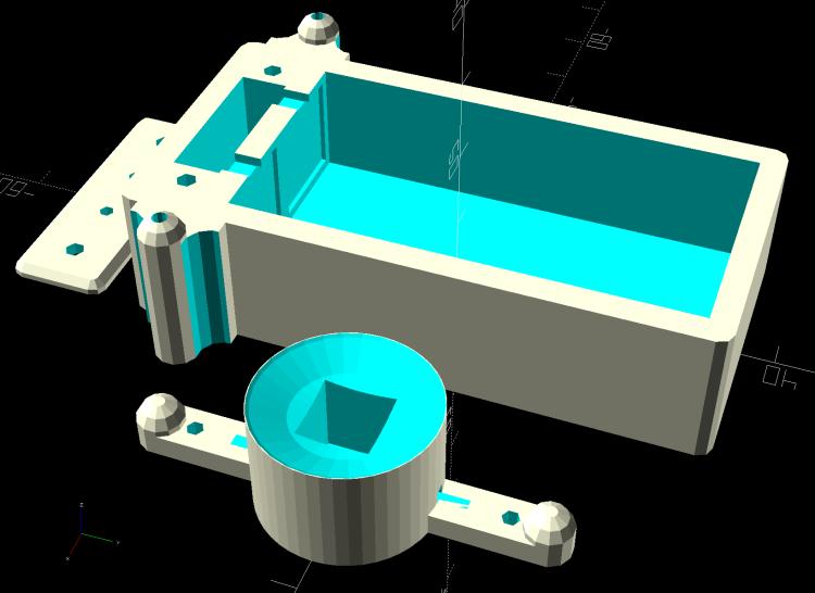 Astable Multivibrator - Alkaline AA Base - radome - solid model