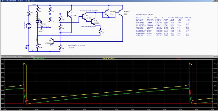 Discrete LM3909 - Darl Q1 - 3.0 V