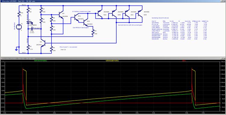 Discrete LM3909 - Darl Q1 3xQ2- 3.0 V