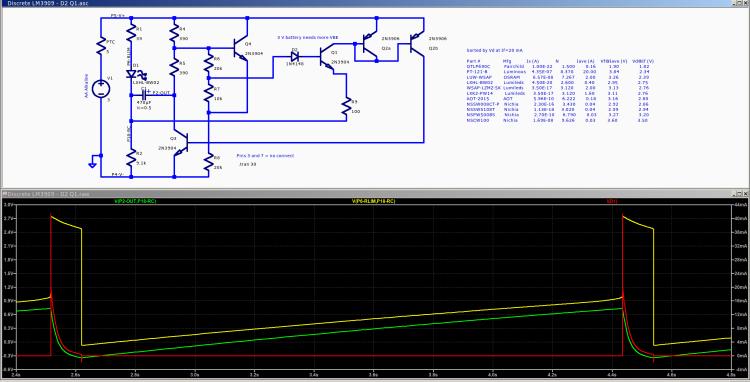 Discrete LM3909 - Q1 B diode - 3.0 V