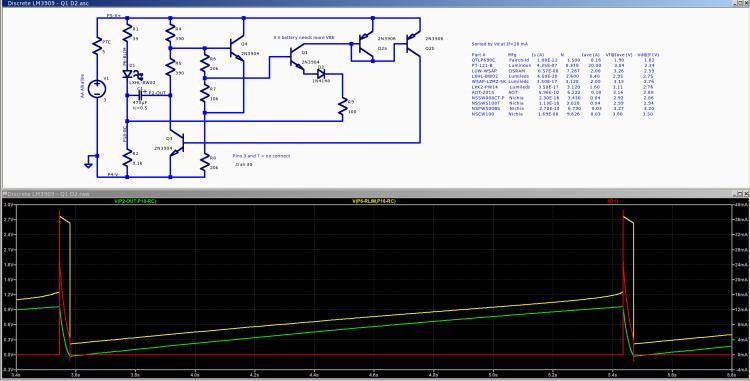Discrete LM3909 - Q1 E diode - 3.0 V