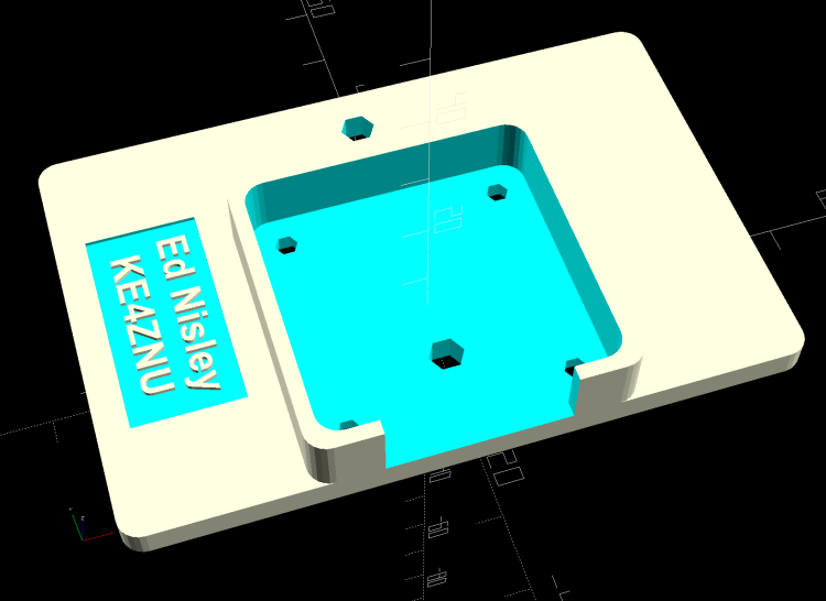 HQ Camera Backplate - OpenSCAD model