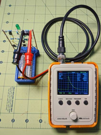 LM3909 - DSO150 test setup