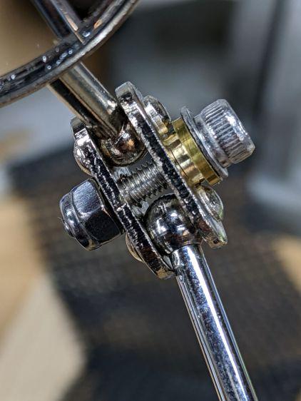 Helmet Mirror Ball Mount - mirror joint brasswork
