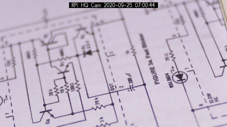 RPi HQ Camera - aperture demo - f 1.4