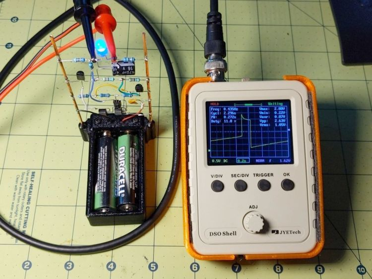LM3909 - blue - test setup