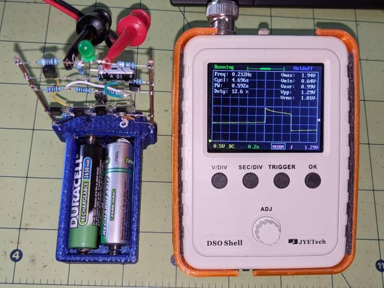 LM3909 green LED - 1.15 V - V LED