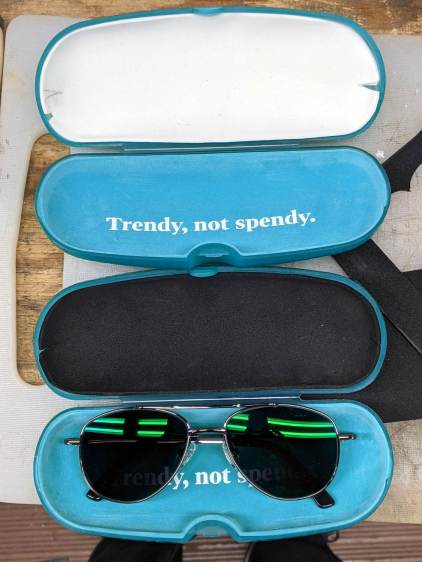 Eyeglass case foam padding - installed