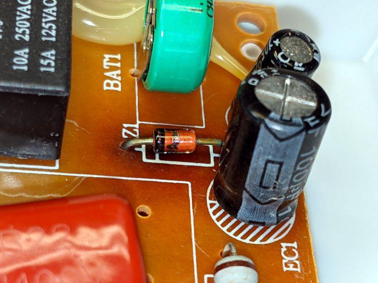Enover outlet timer - scorched diode