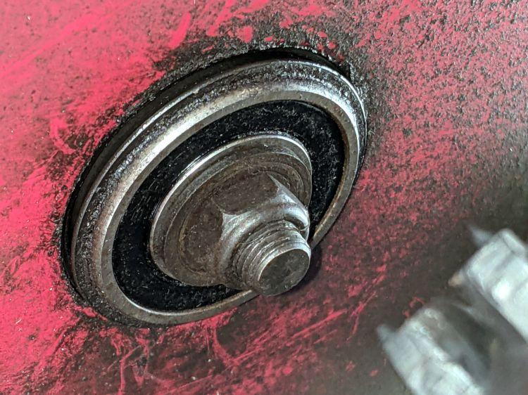 Snowthrower drive gear shaft bearing