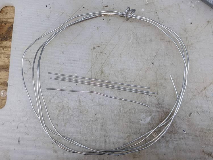 Armature wire - stock vs. straightened