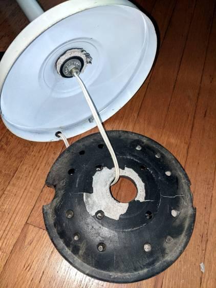 Floor lamp - failed plastic base shell