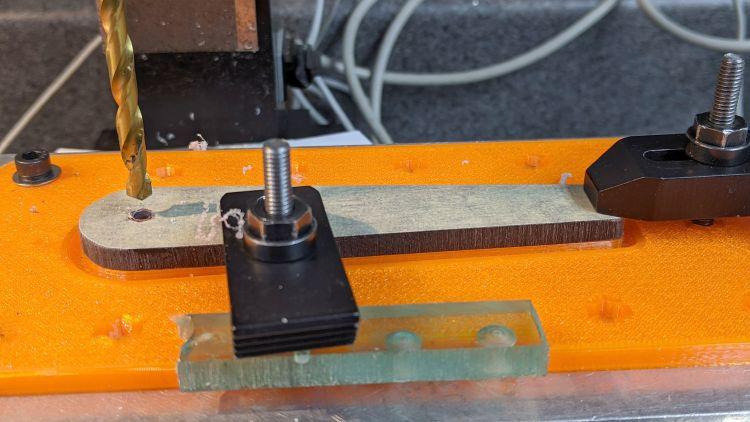 Tek CC Cursor Fixture - clamp drilling
