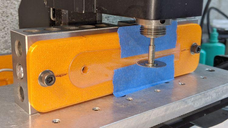 Tek CC - sawed cursor - Sherline setup