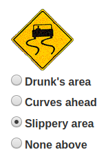 Driving class - slippery area