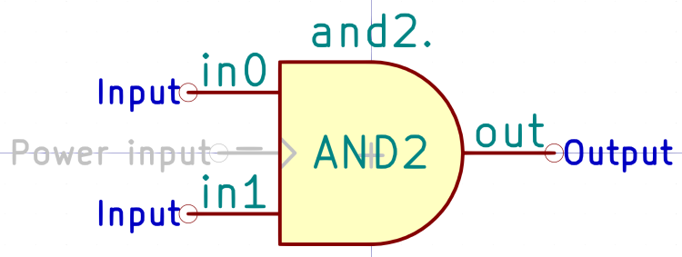 Kicad symbol - AND2