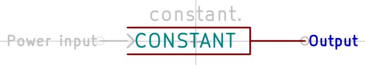 Kicad symbol - CONSTANT