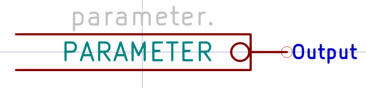 Kicad symbol - PARAMETER