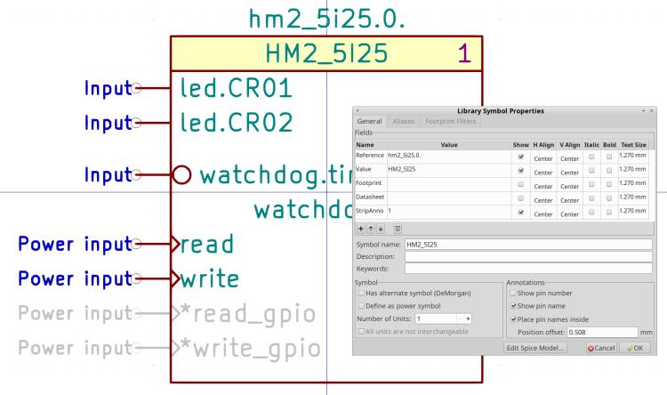 Kicad Symbol Properties - HM2_5I25