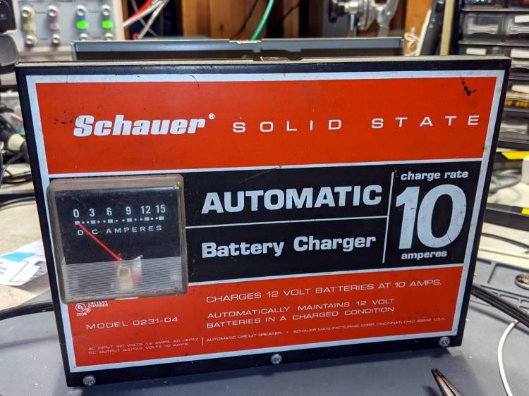 Schauer battery charger - analog ammeter
