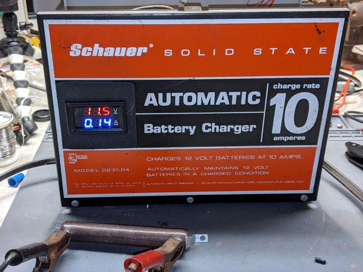 Schauer battery charger - digital meter