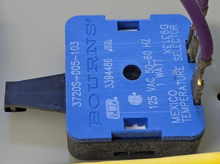 Kenmore dryer temperature selector - part detail