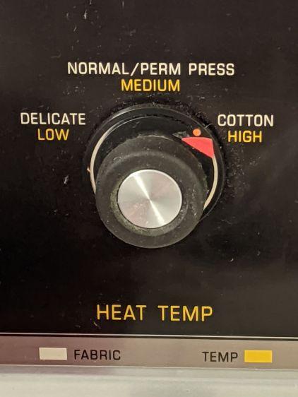 Kenmore dryer temperature selector - front panel
