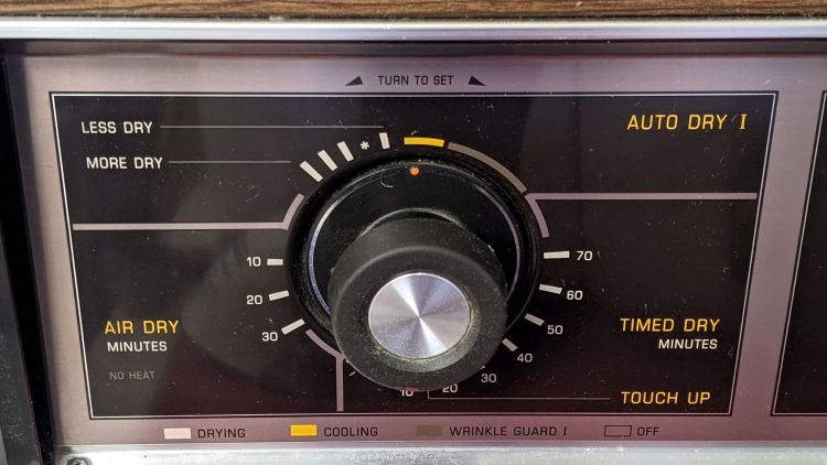 Kenmore dryer cycle select dial