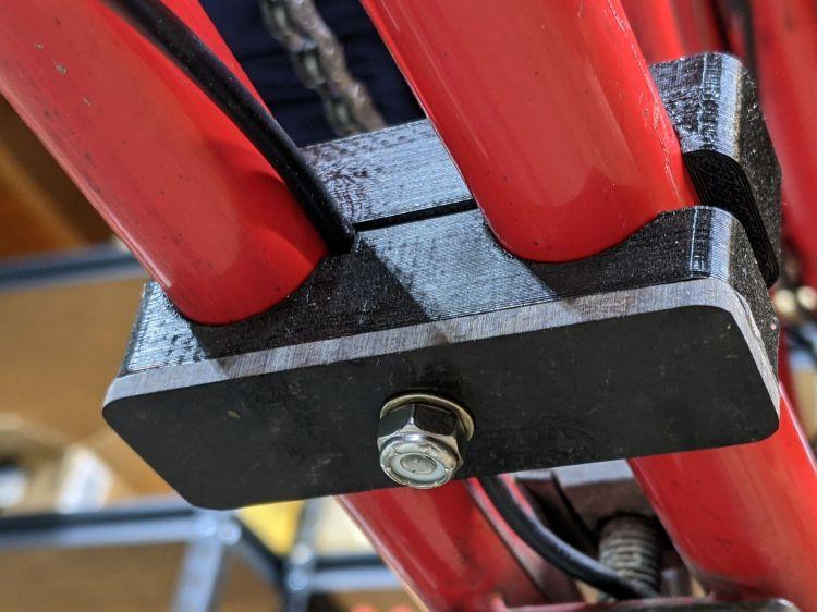 Tour Easy Bafang battery mount - bottom detail
