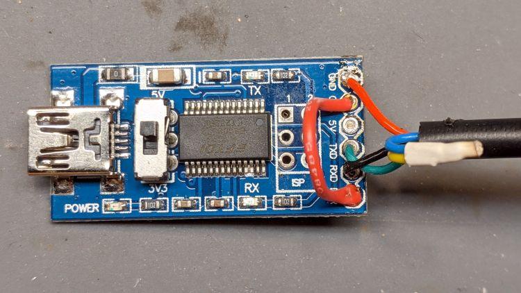 Bafang programmer - USB adapter wiring