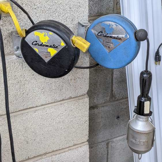 Cordomatic 500P reel - installed