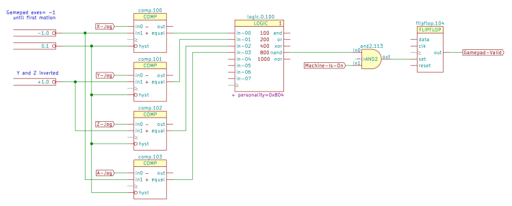 Sherline HAL schematic - gamepad valid - parameters