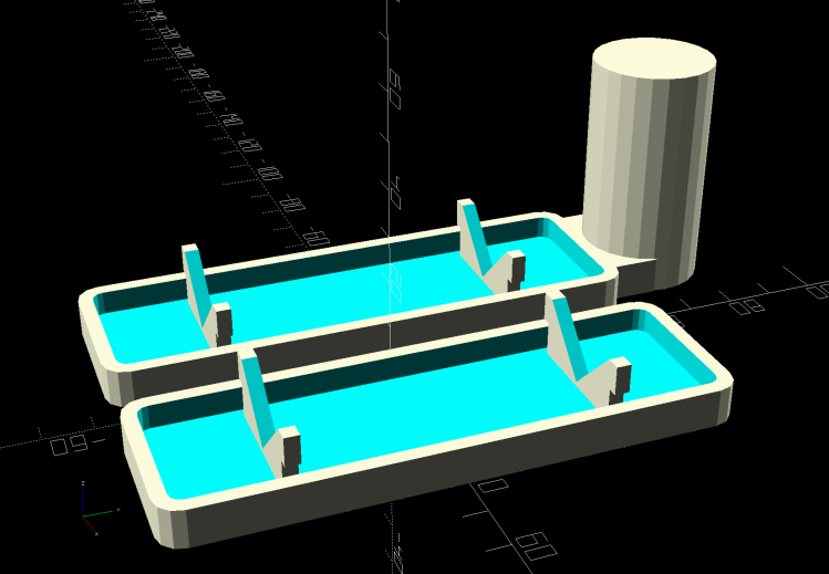 Sticky Sheet Cage - ski pole - solid model