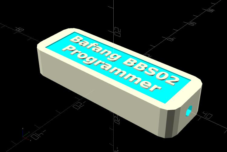 Bafang BBS02 - CP2102 Programming Adapter - case solid model