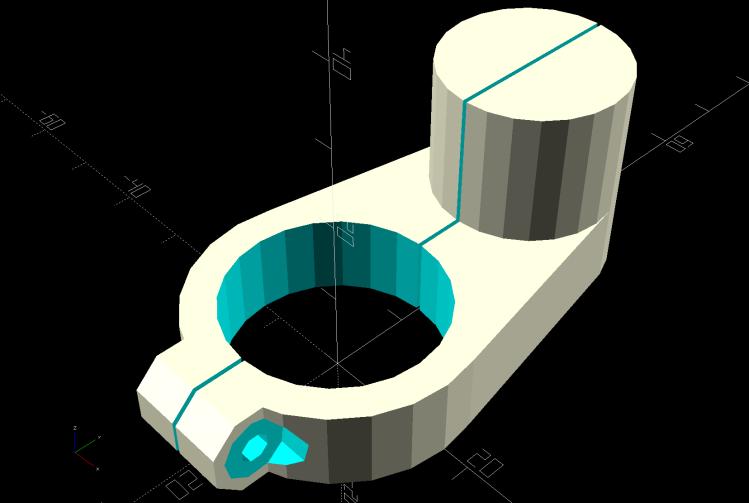 Display adapter mount - solid model
