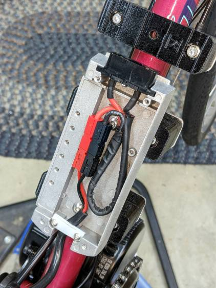 Terry Bafang battery mount - internal modifications