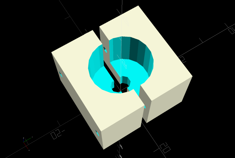 Sensor Nut mold - solid model