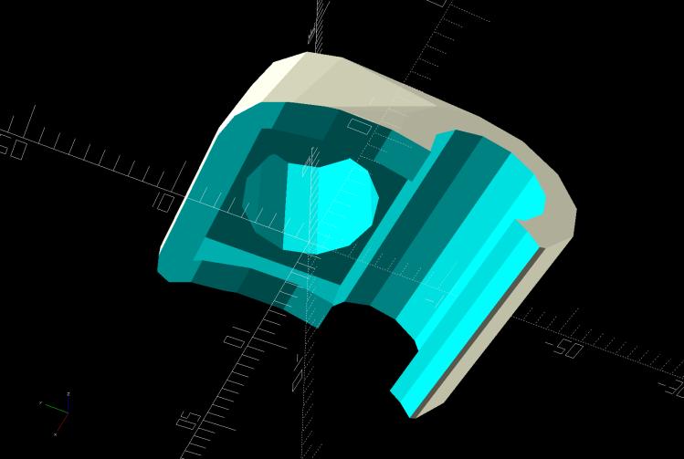 Terry - Bafang shift cap - interior - solid model