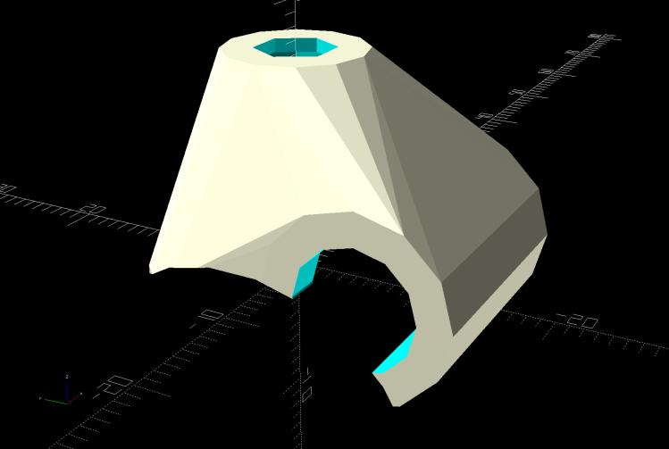 Terry - Bafang shift cap - solid model