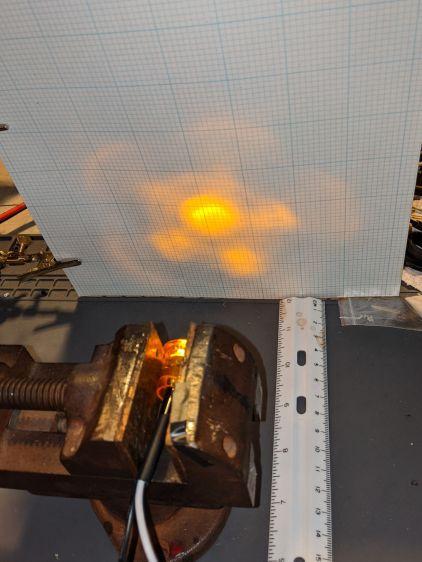 Side Marker - beam test setup