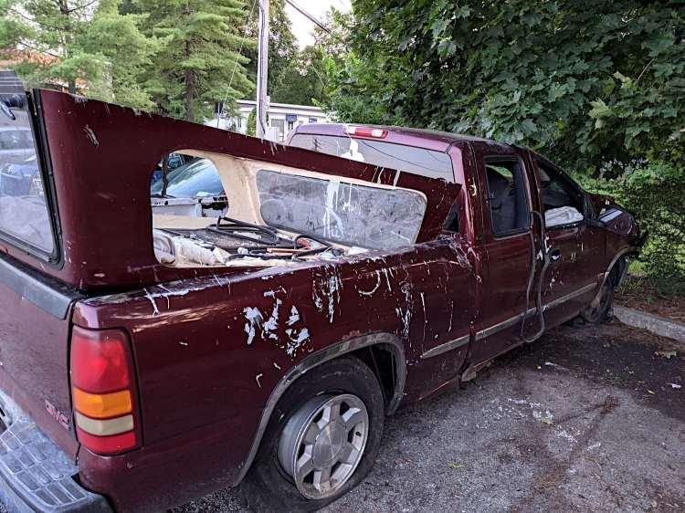 Rt 376 midnight crash - vehicle