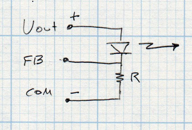 MP1584 - buck regulator - LED current feedback