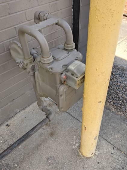Natural Gas Meter Plumbing - detail