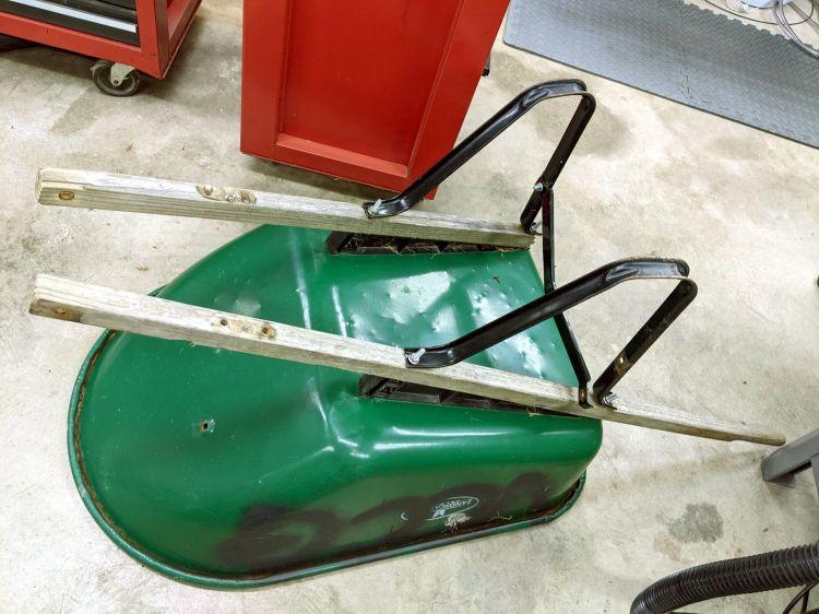 Wheelbarrow rebuild - old handles