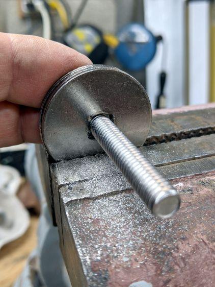Wheelbarrow rebuild - fender washer holes