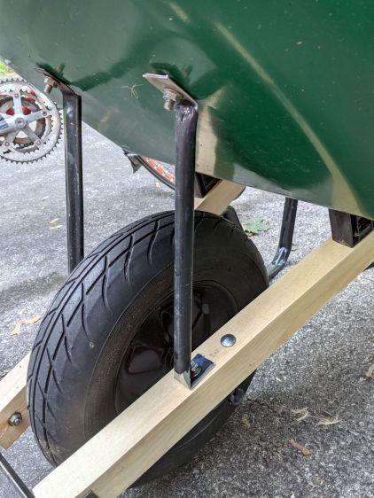 Wheelbarrow rebuild - front strut