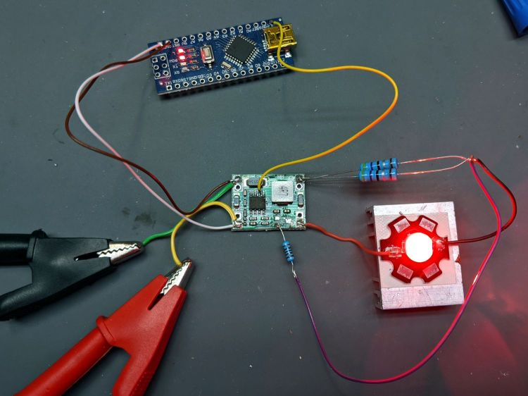 MP1584 current - red LED - Arduino blinkiness