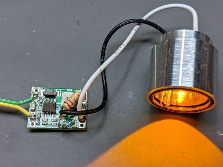 1 W LED Running Light - heatsink test