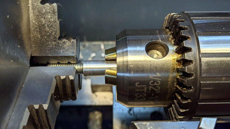 Depth Gauge mounting rod - epoxy alignment