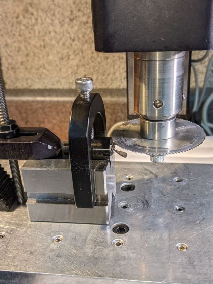 Micro-Mark Bandsaw - acetal guide slitting